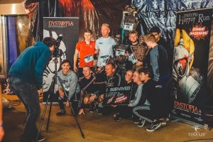 Picture of the survivors at Horror Run - a photo finish