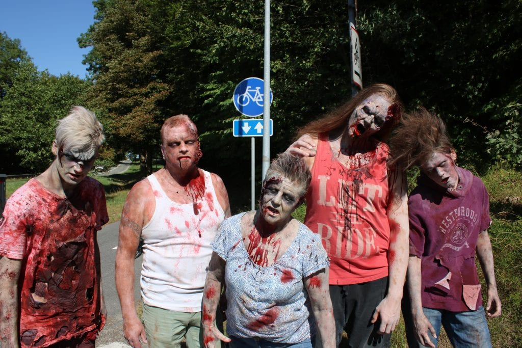 Zombies ready for the encounter with the riders. Photo; Betina L. Pedersen