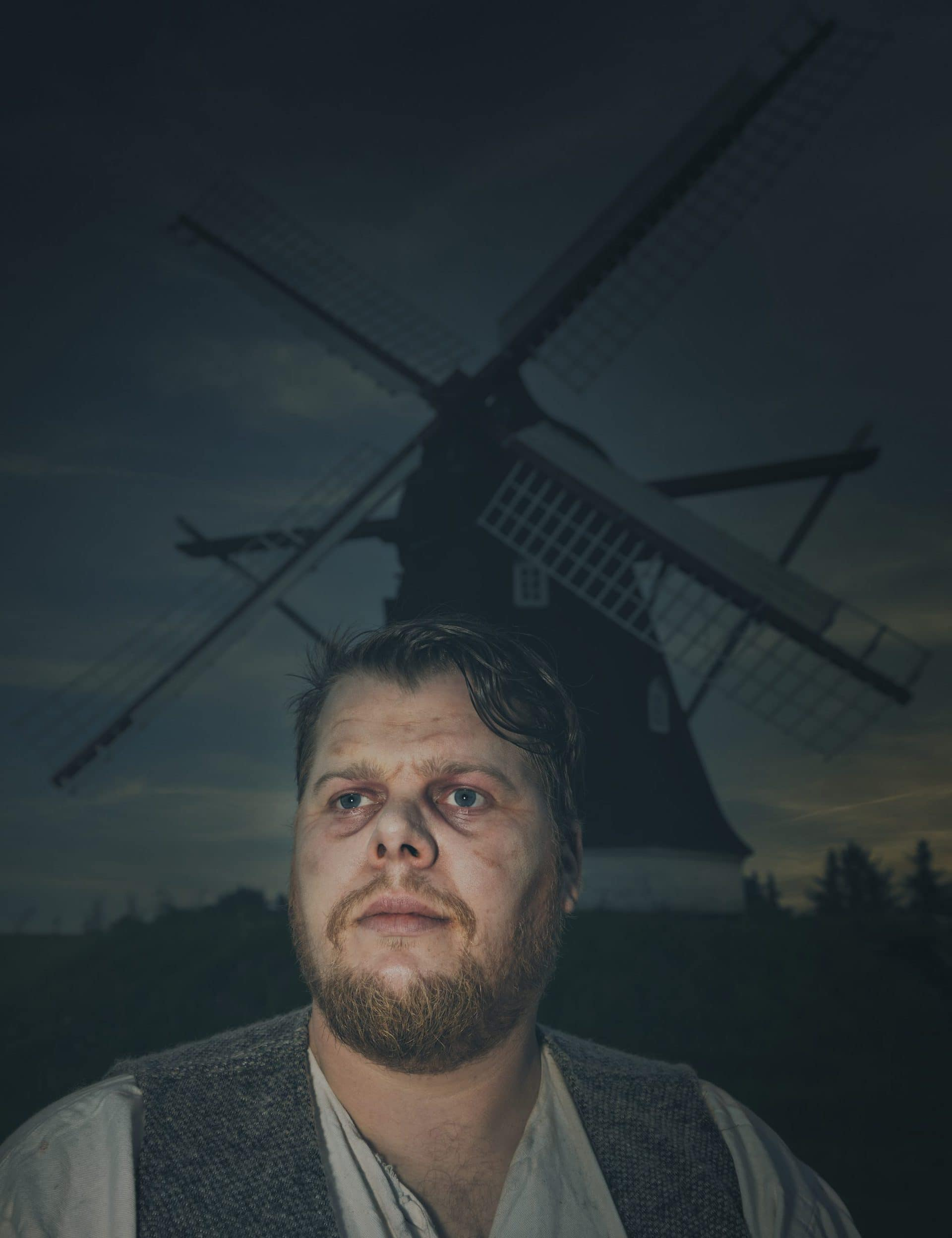 Monstre i Mørket Dorf Møllegård bonden med møllen