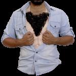 Behåret brystkasse