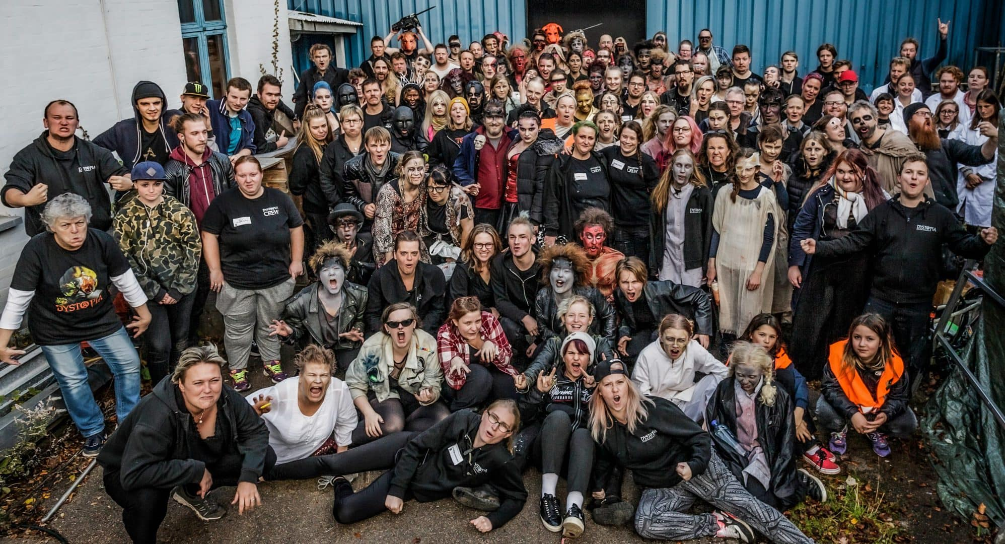 Frivillige ved DYSTOPIA Haunted House 2019 - INFERNO.