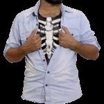 Skelet brystkasse - hvid