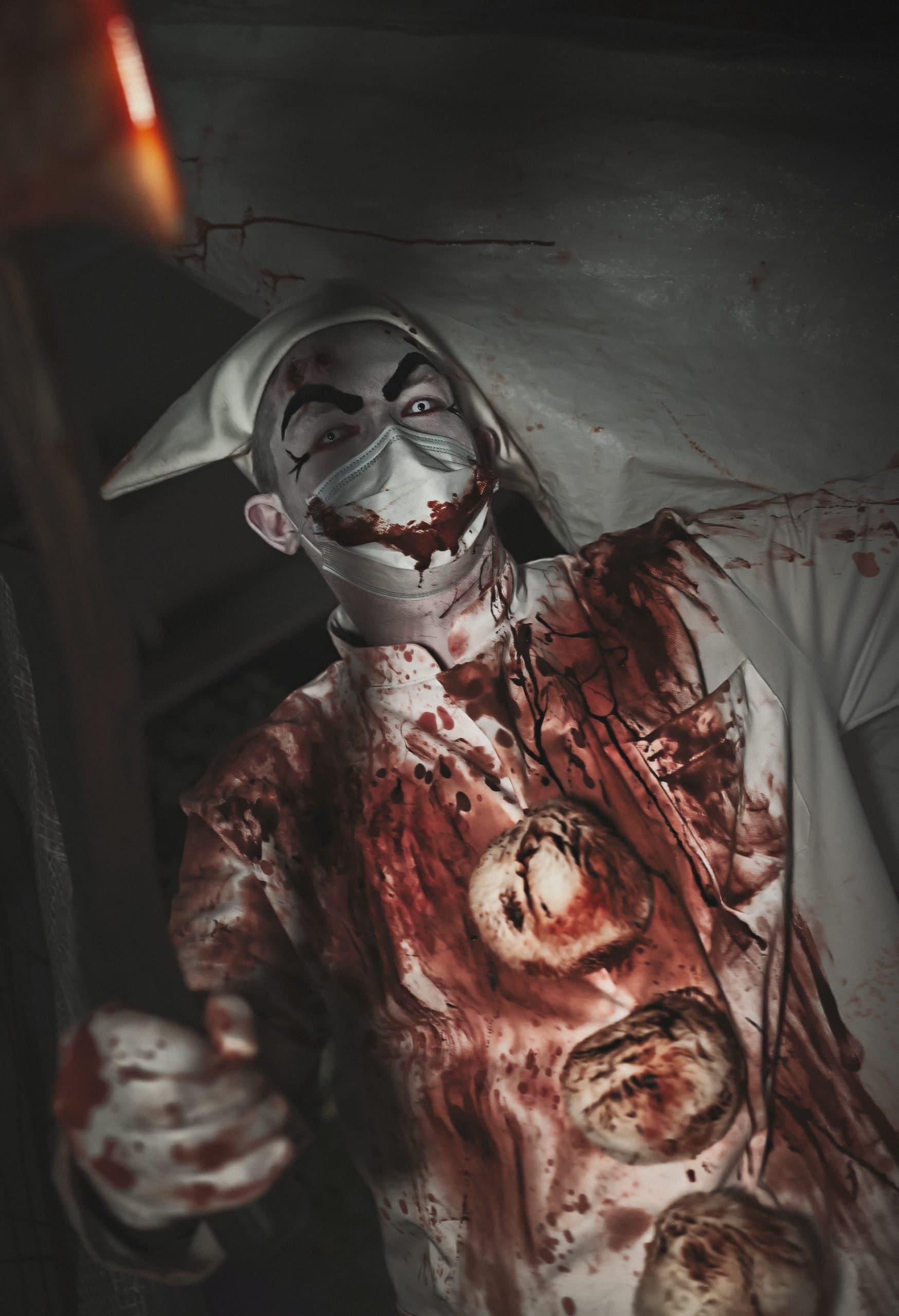 Øksemorderen Pjerrot Halloween Tivoli Friheden Det Hjemsøgte Hotel